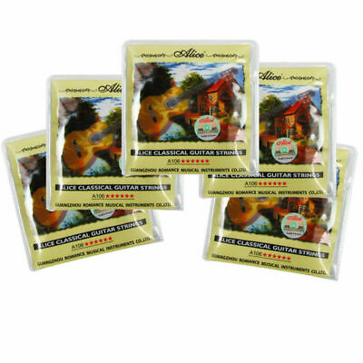 $ CDN17.70 • Buy 5 Sets Classical Guitar Strings Nylon & Silver Plated Copper Alloy Wound Strings