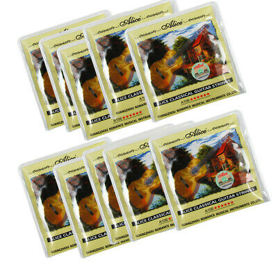 $ CDN31.84 • Buy Alice 10 Sets Classical Guitar Strings Clear Nylon & Silver Plate Copper Wound