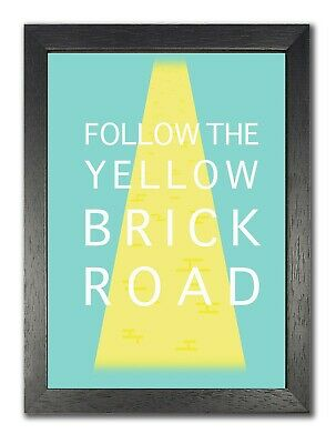 £7.99 • Buy Follow The Yellow Brick Road Inspirational Quote Poster Classic Print Photo