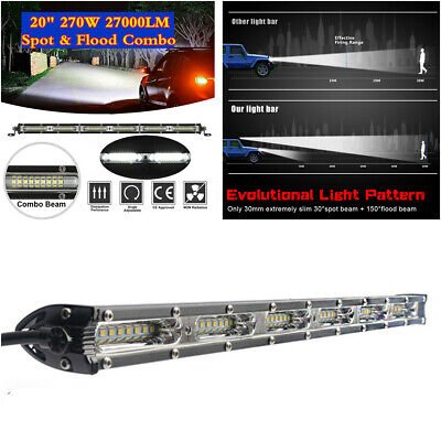 $ CDN35.68 • Buy 270W 20  Slim LED Work Light Bar Flood Spot Beam Car Off-road Driving Fog Lamp
