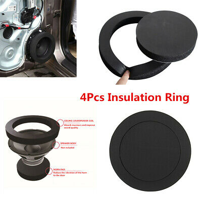 $ CDN13.93 • Buy 4Pcs 6.5'' Speaker Ring Bass Sound Insulation Cotton Self Adhesive For Car Door