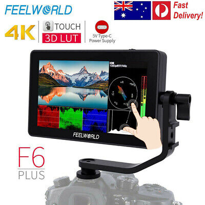 AU244.30 • Buy FEELWORLD F6 Plus 5.5 Inch 3D Lut DSLR Camera Field Type-C Touch Screen Monitor