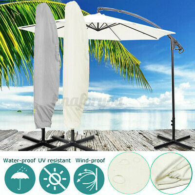 2.6M Parasol Banana Umbrella Cover Dust Waterproof Outdoor Garden Patio Shield  • 10.70£