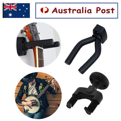 AU9.66 • Buy Guitar Wall Mount Bracket Hanger Padded Hook Mount Holder Ukulele Stand Rack AUS