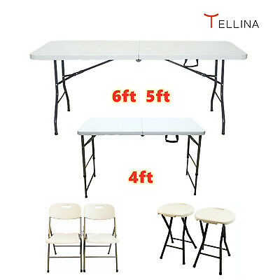 £38.99 • Buy Catering Camping Heavy Duty Folding Trestle Table Picnic BBQ Party 4FT 5FT & 6FT