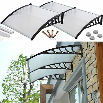£51.99 • Buy Front Door Canopy Porch Rain Protector Awning Lean To Roof Shelter Shade Cover