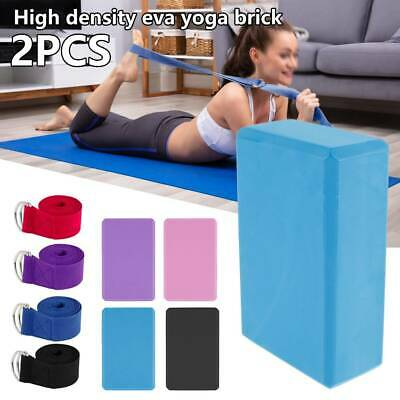 AU16.99 • Buy 2/4 X Yoga Block Brick Foaming Home Exercise Practice Fitness Gym Sport Tool