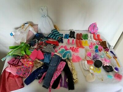 $ CDN8.67 • Buy Barbie Doll Clothes Mixed Lot Of  81 Pieces