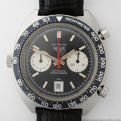 $ CDN1680.71 • Buy Vintage Heuer Autavia Automatic Chronograph Cal12 1163 Running Mens Watch