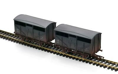 Dapol Cattle Wagon Twin Pack GWR 13821/13826 Weathered OO Gauge 4F-014-024 • 24.39£
