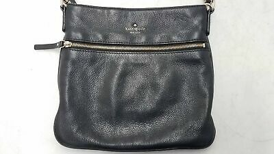 $ CDN13.39 • Buy Kate Spade Black Pebbled Leather Zip-Up Crossbody Bag 10x10.5
