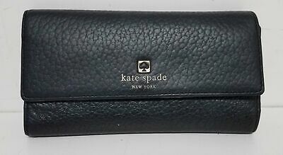 $ CDN13.17 • Buy Kate Spade Black Pebble Grain Leather Wallet