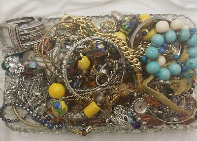 $ CDN11.85 • Buy ☆UNSEARCHED☆ Vintage Jewelry Lot Mixed Bag Junk Drawer