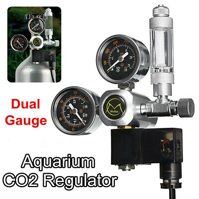 Dual Gauge CO2 Pressure Regulator Bubble Counter Aquarium System Solenoid • 31.59£