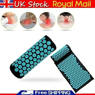 Acupuncture Massage Cushion Pillow Yoga Mat Body Muscle Tension Spike Pad • 14.99£