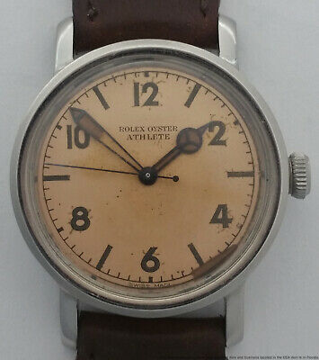 $ CDN12026.70 • Buy Vintage Rolex Oyster Athlete Orig Dial Crown And Hands Ref 4127 Mens Watch