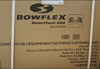$ CDN966.71 • Buy BRAND NEW SEALED Bowflex SelectTech 552 Two Adjustable Dumbbells (Pair) IN STOCK