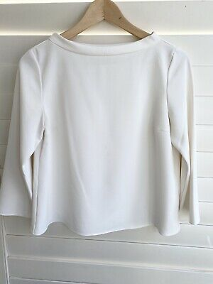 AU8 • Buy Uniqlo Size XS Suits 8 White 3/4 Sleeve Blouse Top Corporate Office