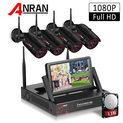 ANRAN Outdoor CCTV Wireless Home Security Camera System With 1TB HDD 7  Monitor • 209.99£