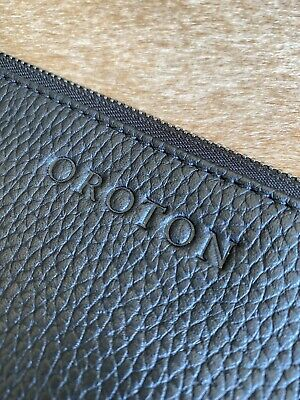 AU10.45 • Buy Oroton Pebble Leather Clutch Pouch Black