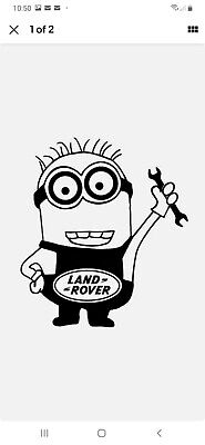 Land Rover Minion Vinyl Sticker Decal Novelty Gift Car Window Funny • 1.90£