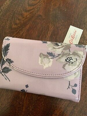 Cath Kidston BNWT Ladies BLUE Grove Bunch Folded Curved Wallet/purse • 15£