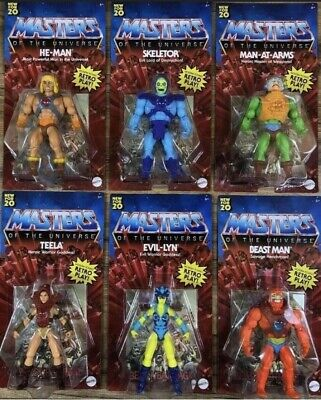 $169.99 • Buy He-Man Masters Of The Universe Origins 2020 Retro Complete Set Of 6 MOTU Wave 1