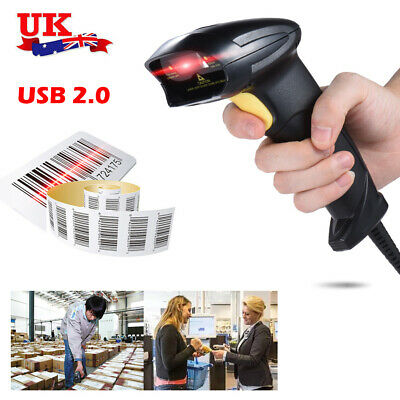 Automatic USB 2.0 Barcode Scanner Bar Code Reader Handheld For Retail Store Shop • 12.99£