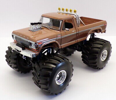 Greenlight 1/18 Scale 13557 - BFT 1978 Ford F-350 Monster Truck - Two-Tone Brown • 184.99£