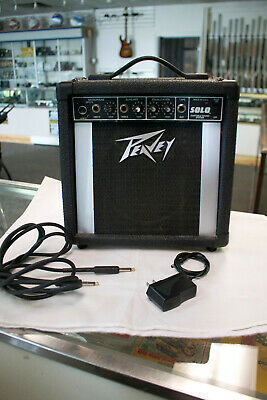 $ CDN92.26 • Buy PEAVEY SOLO Portable Sound System GUITAR AMP AMPLIFIER 15W W/Guitar Pick Up Cord