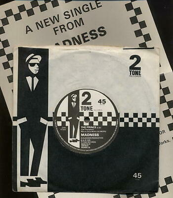 MADNESS - THE PRINCE UK 7  - TWO 2 TONE PAPER LABELS - Ska Mod Suggs Vinyl Cd Lp • 34.99£