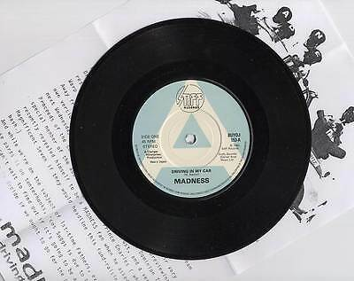 Madness - Driving In My Car - Uk A Label 7  Promo + Press Sheet - Stiff Two Tone • 34.99£