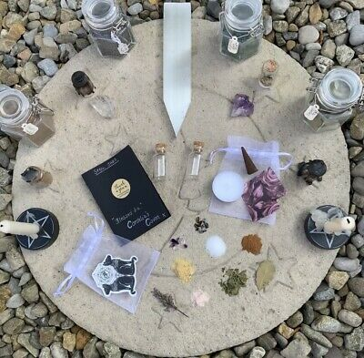 Spell Jar Kits DIY - Wiccan Pagan Witch Magick Spell Crystals • 8.50£