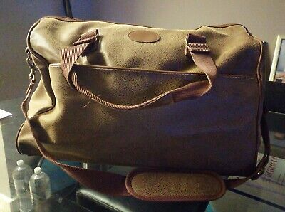 Mens Travel Holdall Duffle Bag Leather Weekend Overnight Bag Waterproof Large • 20£
