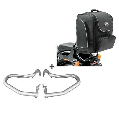 Set Crash Bar + Rear Bag TM4 For Indian Scout/ Sixty/ Bobber 15-20 STM21 • 173.59£