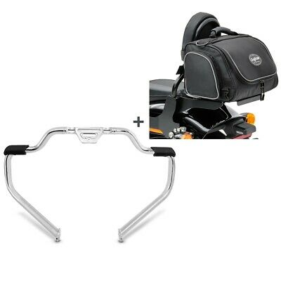 Set Crash Bar + Rear Bag TM2 For Harley Softail 18-21 STM15 • 260.72£