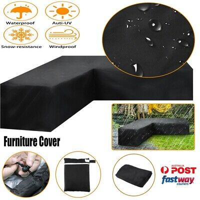 AU32.50 • Buy L Shape Outdoor Furniture Cover Waterproof Sofa Lounge Seat Couch Cover Garden