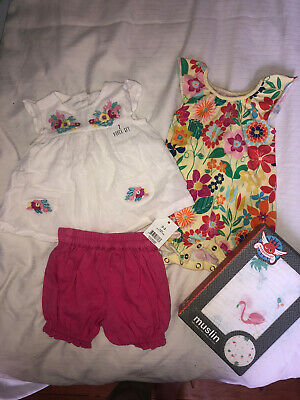 AU12.50 • Buy Baby Girl Clothes 0-3 Months, Cotton, Next And Other Brands Some With Tags