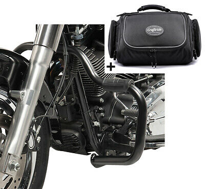 Set Crash Bar + Rear Bag For Harley Sportster 883 R Roadster 04-15 STM1 • 165.04£