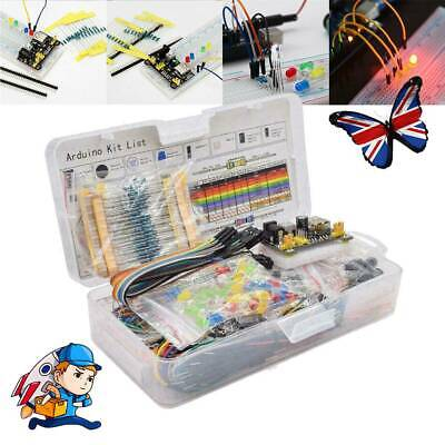 Electronic Component Starter Wires Breadboard Buzzer LED Resistor Transistor Kit • 10.18£