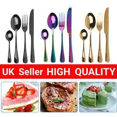 Stylish Kitchen Stainless Steel Cutlery Sets Choice Of 4,8,16,32 Piece Sets • 13.60£