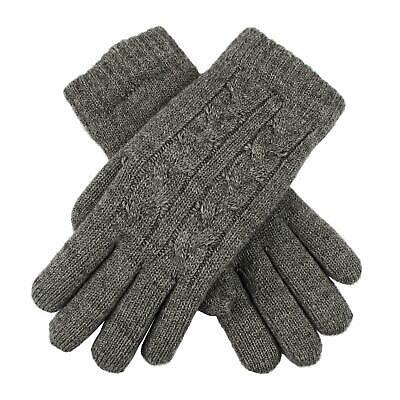 £16 • Buy Dents Charcoal Colour Cable Knit Ladies Gloves Fleece Lined