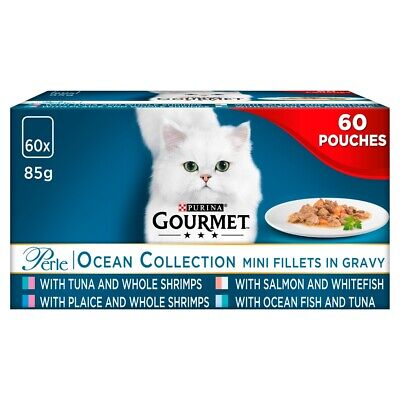 Gourmet Perle Chef's Ocean Collection In Gravy Wet Cat Food Pouches - 60 X 85g • 26.30£