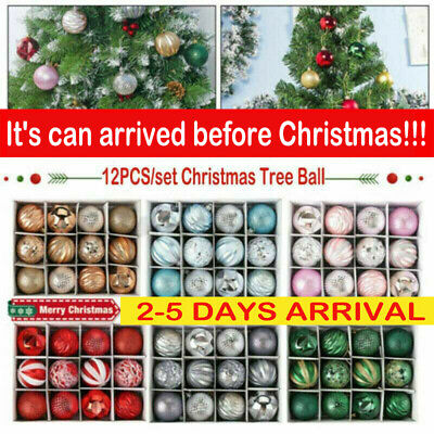 12pcs Christmas Tree Ball Baubles Decoration Xmas Hanging Party Ornament Decor C • 6.99£