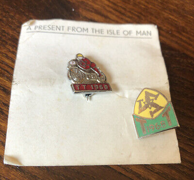 2 X Vintage 1968 Isle Of Man Tt Racing Motorcycles Motorbike Enamel Pin Badges • 5.50£