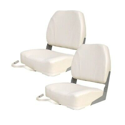 $ CDN198.61 • Buy Classic Deluxe White Low Back  Boat Folding Fishing Seat (Pair) 75102W