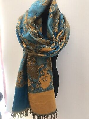 YAK WOOL SHAWL/same Colour As Pic WINTER SCARF/from Tibet/unisex/REVERSIBLE • 17£