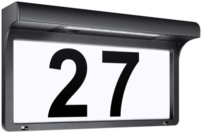 LeiDrail Solar House Number Plaques Illuminated Door Numbers Signs Modern Custom • 40.44£