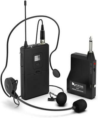 Wireless Microphone System,FIFINE Wireless Microphone Set With Headset And Lapel • 47.09£