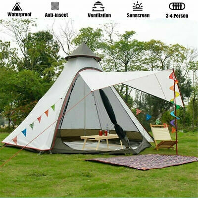 AU219 • Buy AU Ship Portable Waterproof Double Layers Indian Teepee Tent Family Camping Tent